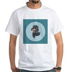 Longhaired Dachshund White T-Shirt