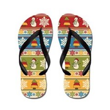 Unique Santa claus Flip Flops