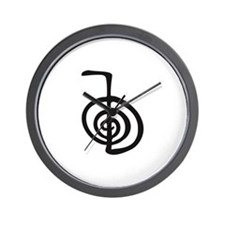 Reiki Power Symbol - cho ku rei Wall Clock