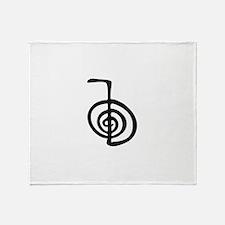 Reiki Power Symbol - cho ku rei Throw Blanket