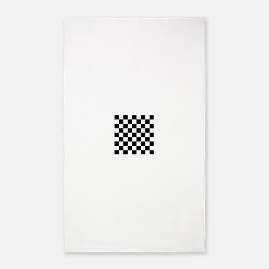 Black and white Check 3'x5' Area Rug