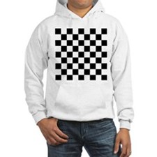 Black and white Check Hoodie