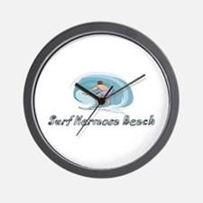 Surf Hermosa Beach, Californi Wall Clock