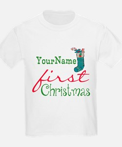 Personalized Name First Christmas T-Shirt