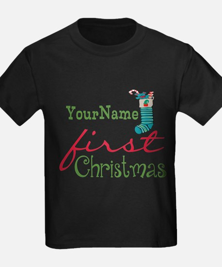Personalized Name First Christmas T