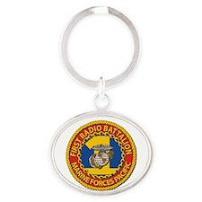 USMC - 1st Radio Battalion Oval Keychain