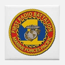 USMC - 1st Radio Battalion Tile Coaster