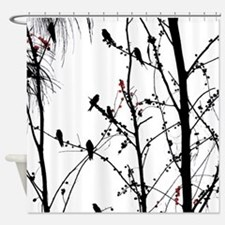 Birds on a tree Shower Curtain