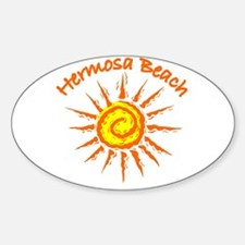 Hermosa Beach, California Oval Decal