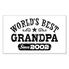World's Best Grandpa Since 2002 Decal