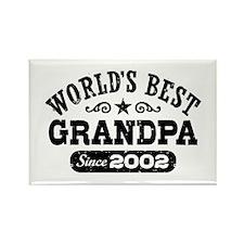World's Best Grandpa Since 2002 Rectangle Magnet