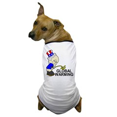 Piss On Global Warming Dog T-Shirt