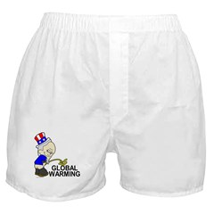 Piss On Global Warming Boxer Shorts