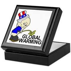 Piss On Global Warming Keepsake Box