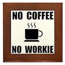 No Coffee Framed Tile