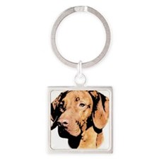 Vizsla Hungarian Pointer Square Keychain