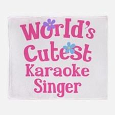 Worlds Cutest Karaoke Singer Throw Blanket