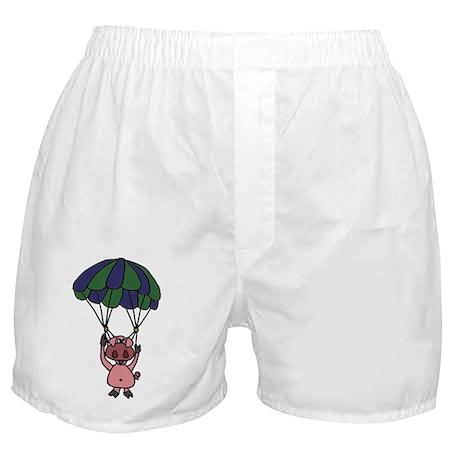 Parachuting Pig Boxer Shorts
