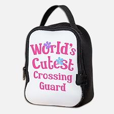 Worlds Cutest Crossing Guard Neoprene Lunch Bag