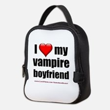 """Love My Vampire Boyfriend"" Neoprene Lunch Bag"