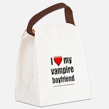 """""""Love My Vampire Boyfriend"""" Canvas Lunch Bag"""