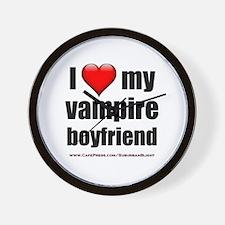 """Love My Vampire Boyfriend"" Wall Clock"