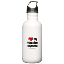 """Love My Vampire Boyfriend"" Water Bottle"