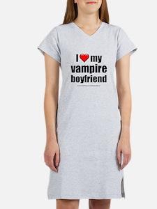 """Love My Vampire Boyfriend"" Women's Nightshirt"