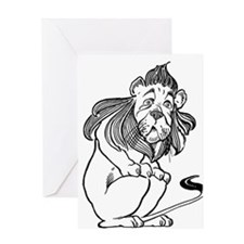 The Wizard of Oz Cowardly Lion Greeting Card