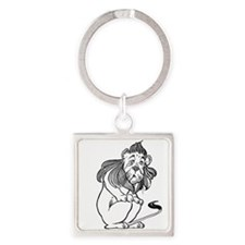 The Wizard of Oz Cowardly Lion Square Keychain