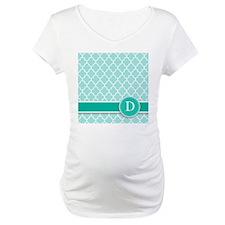 Letter D turquoise quatrefoil monogram Shirt
