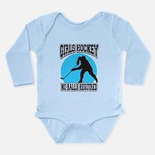 Girl's Hockey Long Sleeve Infant Bodysuit