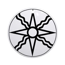 Star of Shamash Round Ornament