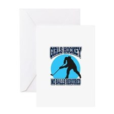 Girl's Hockey Greeting Card