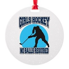 Girl's Hockey Ornament