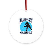 Girl's Hockey Ornament (Round)