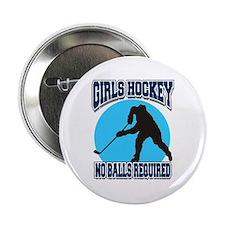 """Girl's Hockey 2.25"""" Button"""