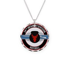 34th Infantry CIB Necklace