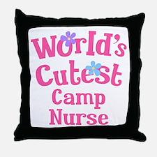 Worlds Cutest Camp Nurse Throw Pillow