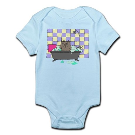 Cat Bath Infant Bodysuit