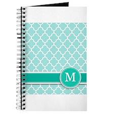 Letter M turquoise quatrefoil monogram Journal