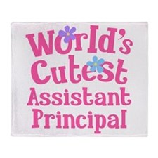 Worlds Cutest Assistant Principal Throw Blanket