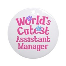 Worlds Cutest Assistant Manager Ornament (Round)