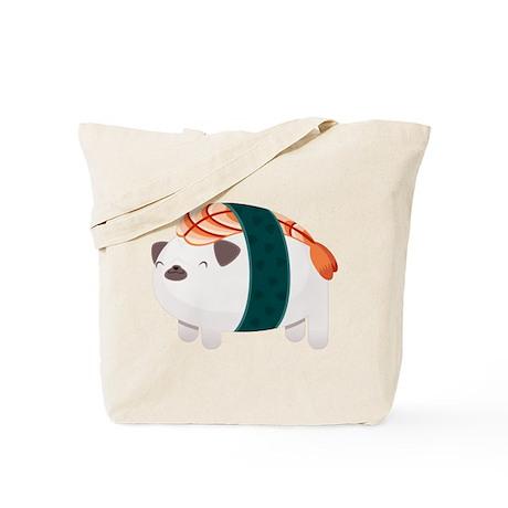 Shrimp Nigiri Pug Tote Bag