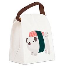 Nigiri-Pug Canvas Lunch Bag