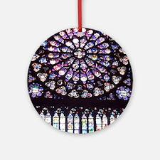 Notre Dame Window Round Ornament
