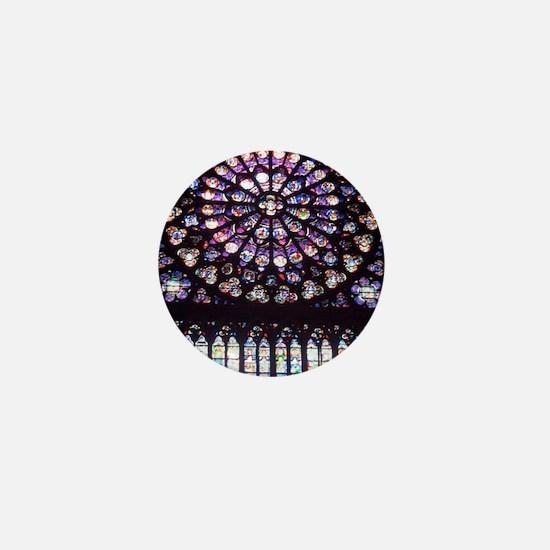 Notre Dame Window Mini Button