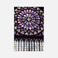 Notre Dame Window Rectangle Magnet