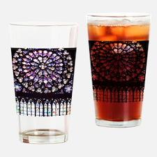 Notre Dame Window Drinking Glass