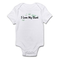 Love Aunt Green Hearts Baby/Toddler bodysuits